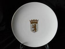 Alter Porzellan Sammelteller mit Wappen von Berlin, KPM Berlin Zeptermarke(A484)