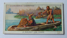 "Churchman ""The Story of Navigation"" cigarette card 1936 #2 A Dug-Out Log Canoe"