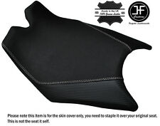 CARBON & GRIP VINYL WHITE ST CUSTOM FITS KTM RC8 FRONT RIDER SEAT COVER