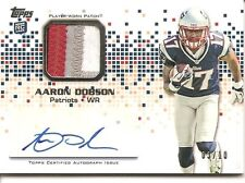 2013 Topps Aaron Dobson (Patriots) Rookie Autograph Patch Card #RAP-AD (3 of 10)