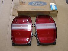 NOS OEM Ford 1968 Galaxie 500 Tail Light Lamp Lenses Pair
