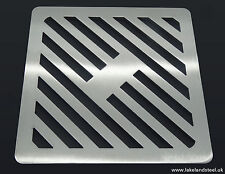 200mm 20cm Square Stainless steel metal heavy duty drain cover gully grid grate