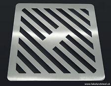 200mm 20cm acciaio inox quadrato in metallo Heavy Duty copertura scarico per cantine Griglia Griglia