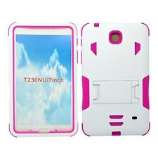 """For Samsung Galaxy Tab 4 7.0""""/ 7-inch T230 Tablet Armor Rugged Cover Hard Case"""