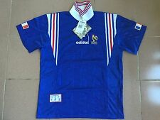 VINTAGE RARE NWT ADIDAS FRANCE MAILLOT HOME EURO 96 JERSEY SHIRT LACE UP LARGE