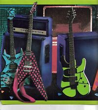 NEON COLORS ON BLACK BACKGROUND ELECTRIC GUITAR WALLPAPER BORDER  FB075131B