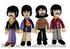 BEATLES YELLOW SUB FAB FOUR PLUSH TOY FIGURE SET-LENNON MCCARTNEY HARRISON RINGO
