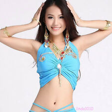 New Belly Dance Costume Beads Crystal Bra Top Vest Blouse 9 Colors