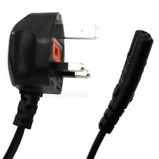 Standard Universal 3A 250V UK 3 Pin To Figure Of 8 Power Plug Lead - 1.5m Fused