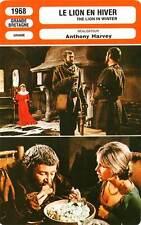 FICHE CINEMA : LE LION EN HIVER - O'Toole,Hepburn,Harvey 1968 The Lion in Winter