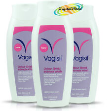3x Vagisil Odour Shield Hypoallergenic Intimate Wash Light & Clean Scent 250ml