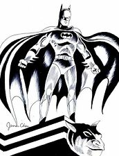 BATMAN DETAILED BLACK INK ORIGINAL COMIC ART BY COMIC BOOK ARTIST JAMES CHEN