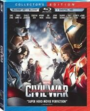 Captain America Civil War 3D BluRay + Slipcover, No 2D No code. Disney Marvel