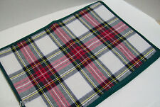 Williams Sonoma Classic Christmas Stewart Tartan Plaid Placemat Set of 4 New