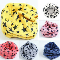 Best Children's Cotton Scarves Unisex Winter Knitting Stars Collar Neck Warmer