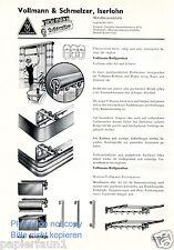 Metallwaren Fabrik Vollmann & Schmelzer Iserloh Reklame von 1935 Vorhangstange