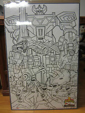 Vintage 1994  Mighty Morphin Power Rangers coloring poster 437