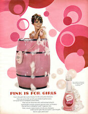 Pink is for Girls LUSTRE CREME LOTION SHAMPOO Bath in a Barrel PHONE 1967 Ad