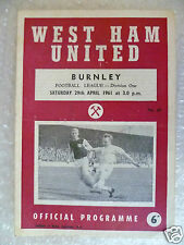 1961 WEST HAM UNITED v BURNLEY,29th April (League Division One)