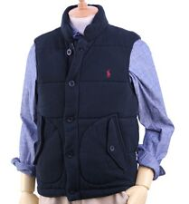 Polo Ralph Lauren Quilted Fleece Vest in Size Medium in Black w/red horse