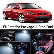 6X Bulb Car LED Interior Lights Package kit For 2004-2009 2006  Mazda 3 White NQ