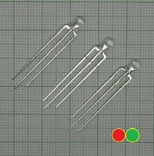 10X Led 3mm, DUO Bi-Color Led (rot - grün, 3-polig,g anode)  - E