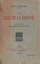 RARE EO SERVICE DE PRESSE + DÉDICACE + H.RIDER HAGGARD :  LA FILLE DE LA SAGESSE