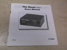 The Omni Cube User's Manual F1D092 *FREE SHIPPING*