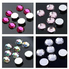 1000 X 5mm Coloured Acrylic Faceted Rhinestones Crystal Round Flat Back Gems EE
