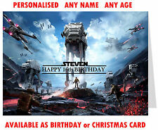 Personalised BATTLEFRONT STAR WARS BIRTHDAY or CHRISTMAS CARD xbox ps4 xmas