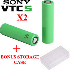 2x Sony vtc5 IMR 18650 2600mAh 30 / 60A HIGH DRAIN Battery + GRATIS STORAGE BOX