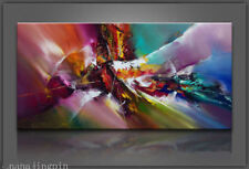 "Oil Painting on Canvas Art Large Abstract Picture Wall Decor 24x48""(No Frame)"