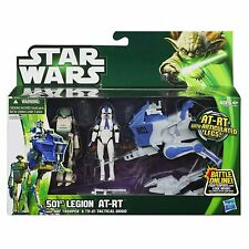 STAR WARS 501ST LEGION AT-RT VEHICLE ARF TROOPER & TX-21 TACTICAL DROID FIGURES