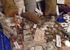 ESTATE  LOT OLD SILVER US COINS $.999 BULLION BARS HOARD GOLD MONEY PCGS SALE