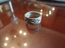 WOVEN STERLING SILVER MEXICO-- 925 RING----SIZE-6