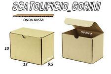 30 PZ SCATOLA CARTONE 13x9 ,5x10 FUSTELLATA IMBALLO  SPEDIZIONE BAULETTO