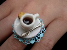 CUTE KITSCH KAWAII ALICE IN WONDERLAND MAD HATTERS TEA PARTY TEA CUP TEACUP RING