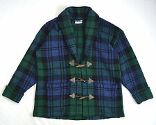 Vintage Thick Wool Hand Knit HAROLD'S Toggle Button Sweater Jacket Barn Coat M L