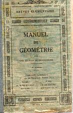 MANUEL DE GEOMETRIE, BREVET ELEMENTAIRE,  Collectif, LIBRAIRIE GENERALE