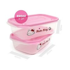 Sanrio Hello Kitty Lock & Lock 890ml x 2 Container / Lunch Box