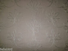 "Harlequin curtain fabric design ""elisa"" 2.4 mètres brodé design taupe"