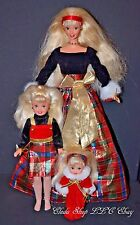 CHRISTMAS HOLIDAY SISTERS BARBIE DOLL KELLY STACIE LOT SET