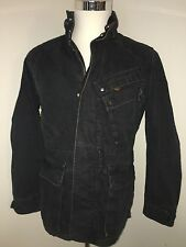G STAR RAW BLACK ZIP PARKA COAT SANDHURST M Denim Jacket Canvas Military bomber