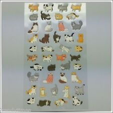 1 sheet x Cute Cat PVC Bubble Sticker for Craft Scrapbook Diary DIY Photo Album
