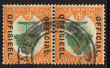 SOUTH AFRICA 1926 6d GREEN & ORANGE WITH INVERTED WATERMARK SG O4w FINE USED.