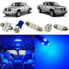 5x Blue LED lights interior package kit for 2005-2011 Dodge Dakota DD1B