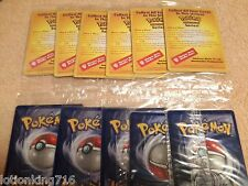 NEW FACTORY SEALED 1999 WIZARDS POKEMON FIRST MOVIE BLACK STAR PROMO CARDS.!