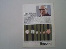 advertising Pubblicità 1960 OROLOGIO BULOVA QUEMOI/DANZA/POLARIS/WAL/TANGO/DUSA