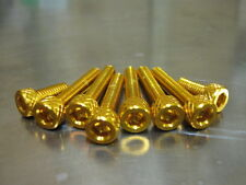 Fuel Cap Bolt Kit for Suzuki GSX 1300, BK ,Hayabusa in gold anodised bolts
