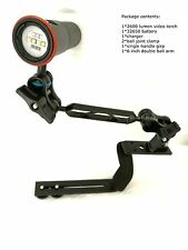 2600 LM Underwater Camera tray Dive Video Light  Kit